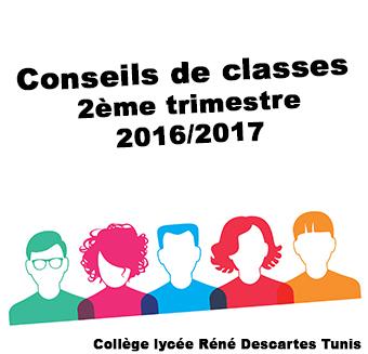 Conseils de classes 2ème trimestre 2016/2017